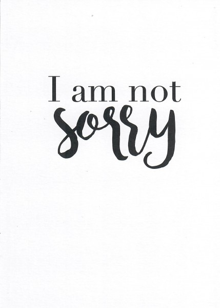 Cityproducts YOU&ME-I am not sorry